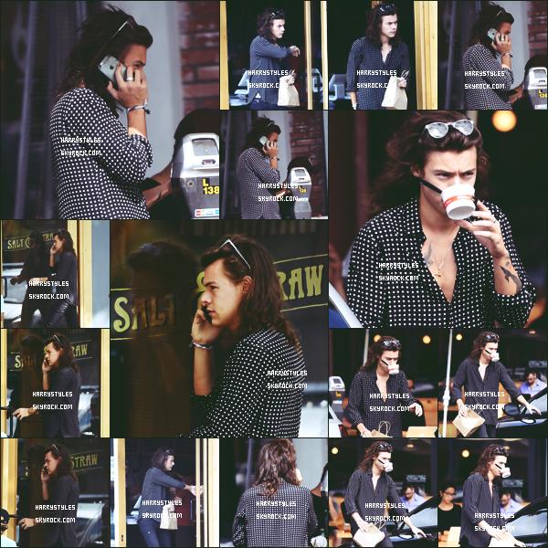 15.09.2015 - Harry a été aperçu tout seul par les paparazzis dans les rues de Los Angeles ! Je mets un gros top pour cette sortie j'aime beaucoup cette candids une de mes préférés de 2015, c'est un gos TOP !