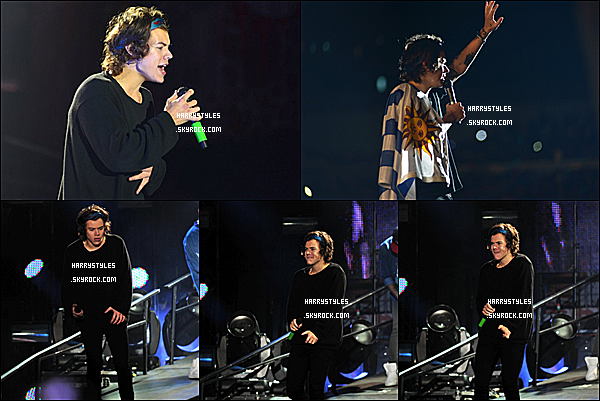 WWAT - Harry en compagnie des boys chantant à Montevideo, en Uruguay ! Les boys ont chanté le six Mai 2014. J'aime beaucoup la pêche de Harry. un énorme top.