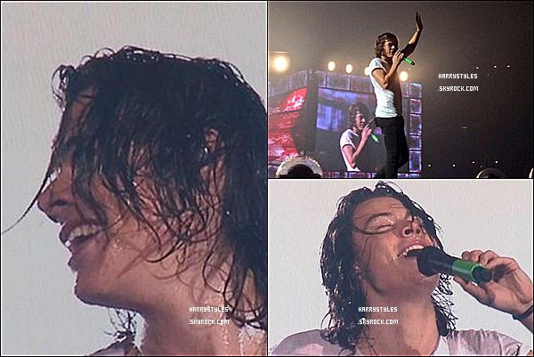 WWAT - Harry en compagnie des boys chantant à St Louis ! Les boys ont chanté le 27 Août 2014. Mr Styles est vraiment au TOP.