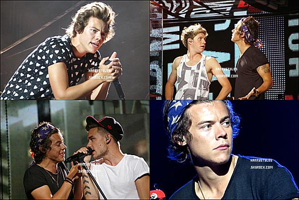 TMHT - Harry en compagnie des boys chantant à Los Angeles, au USA ! Les boys ont chanté à Los Angeles du 7 au 9 Août .Je suis amoureuse de cette tournée les gens.