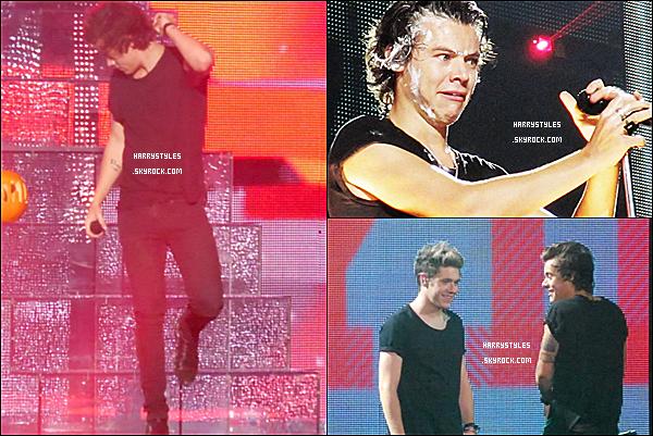 TMHT - Harry en compagnie des boys chantant à Melbourne, en Australie ! Les boys ont chanté à Melbourne du 28 au 30 Octobre 2013 .La tournée va bientôt se terminer.