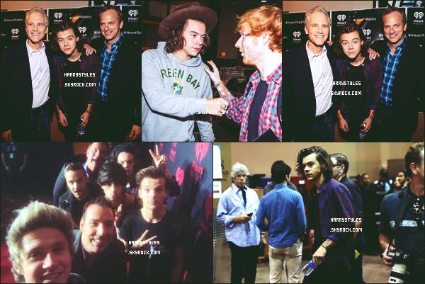 - 20/09/14 : Les One Direction posait sur le red carpet des « iHeartRadio Music Festival » à Las Vegas. Alors ça c'est du look vraiment bravo pour Harry qui nous en met plein la vue ! Haha c'est mieux que les Brits Awards ce coup-ci TOP ! -