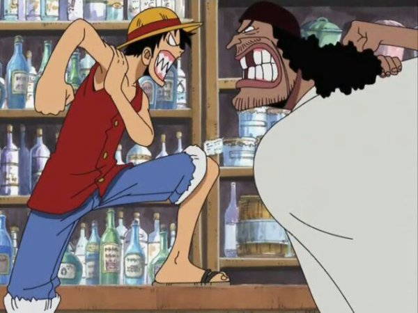 Monkey D. Luffy vs Marshall D. Teach à Jaya