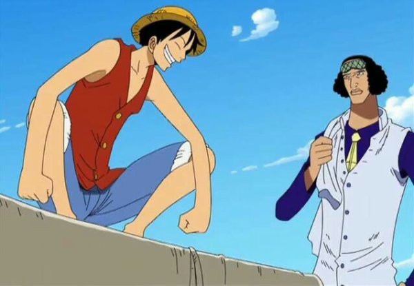 Kuzan Aokiji avec Nami, Monkey D. Luffy & Nico Robin - Arc Aokiji