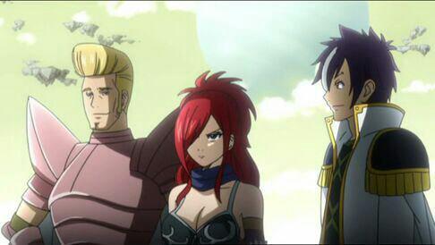 Erza Knightwalker (Edo-Erza), Hughes, Sugarboy, Faust (Edo-Makarof), Coco, Byro & Panther Lily - Arc Edolas
