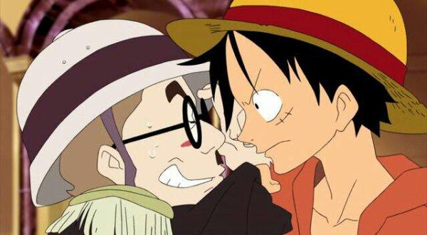 Monkey D. Luffy & Chopper avec Brief, Papa, Daisy, Rosa & Rick - Film 06, Le Baron Omatsuri & l'île aux secrets