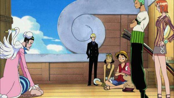 Bonclay (Mister 2) avec l'équipage du Chapeau de Paille (+ Karoo) - Film 08, Episode d'Alabasta : Les pirates et la Princesse du désert