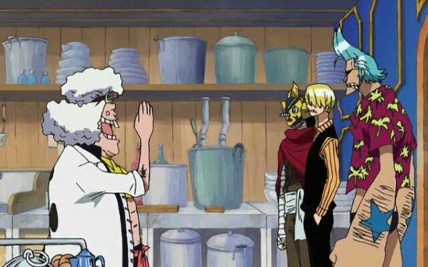 Wanze vs Sanji (+ Usopp (alias Sniperking (Sogeking)) & Franky) - Arc Water 7