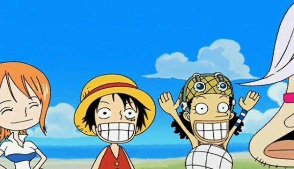 Tsubaki + Monkey D. Luffy, Roronoa Zoro, Nami, Usopp & Sanji - Le petit théâtre du Chapeau de Paille (Report Time)