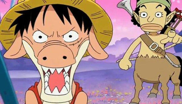 Monkey D. Luffy (Lugyao), Usopp (Ussopaka), Chopper (Chopaken) & Nico Robin (Rodusa) - Le petit théâtre du Chapeau de Paille (Monster Time)