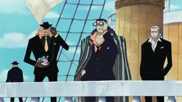 Spandine, Laskey & Partenaire de Laskey (Flashback de Nico Robin) - Arc Enies Lobby