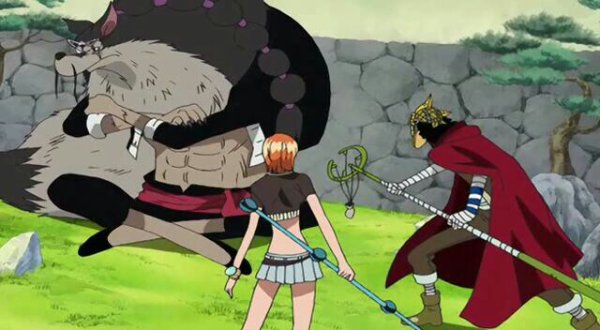 Usopp (Sniperking) & Nami vs Jabura - Arc Enies Lobby