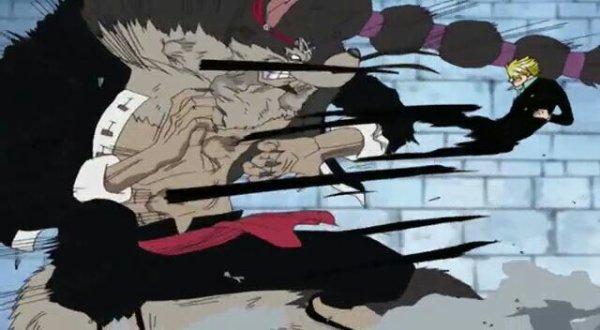 Sanji vs Jabura - Arc Enies Lobby