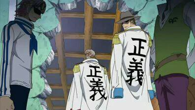 Monkey D. Garp, Bogart, Coby & Hermep - Arc Post-Enies Lobby