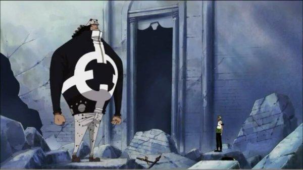 Bartholomew Kuma + Roronoa Zoro, Sanji & Monkey D. Luffy - Arc Thriller Bark