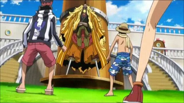 Kinjishi no Shiki, Dr Indigo & Scarlet + Monkey D. Luffy, Nami & Usopp - Film 10, Strong World