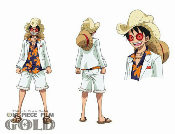 Tenues de Monkey D. Luffy & Franky pour le film One Piece Gold
