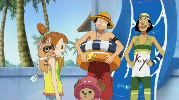 Lina, Sayo & Nukky + Monkey D. Luffy, Nami, Usopp, Sanji, Chopper & Nico Robin - Arc Ile Spa