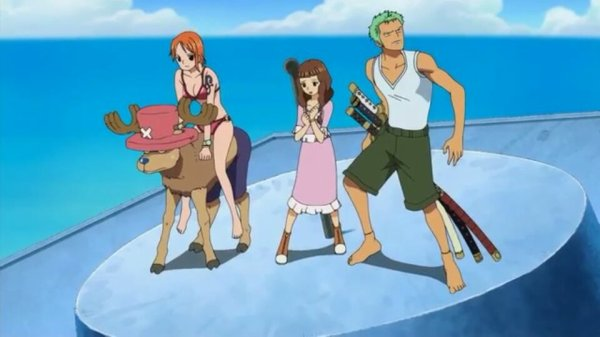 Lina, Sayo & Nukky + Monkey D. Luffy, Roronoa Zoro, Nami, Usopp, Sanji, Chopper & Brook - Arc Ile Spa