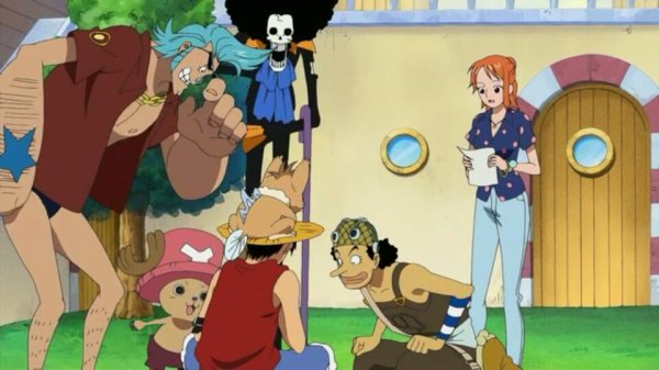 Nukky + Monkey D. Luffy, Nami, Usopp, Chopper, Franky & Brook - Arc Ile Spa