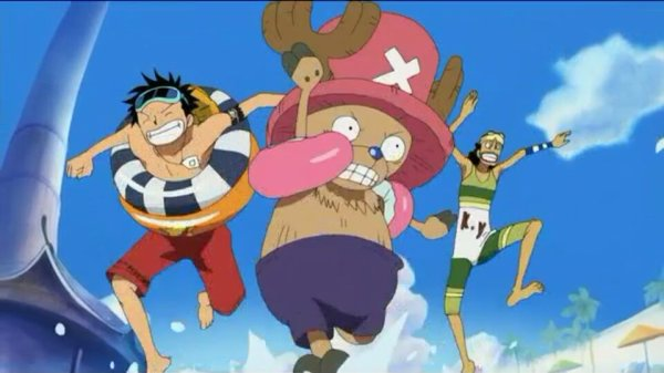 Monkey D. Luffy, Nami, Usopp, Chopper & Nico Robin - Arc Ile Spa