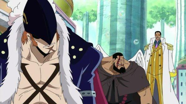 Borsalino Kizaru vs X-Drake, Urouge, Basil Hawkins, Brook, Usopp & Roronoa Zoro - Arc Archipel Sabaody