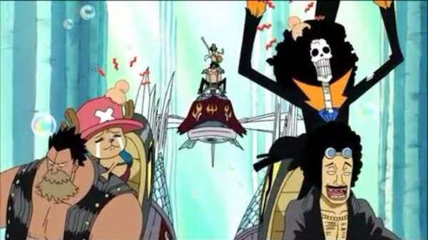 Duval & ses hommes + Usopp, Franky, Sanji, Chopper, Brook & Monkey D. Luffy - Arc Archipel Sabaody