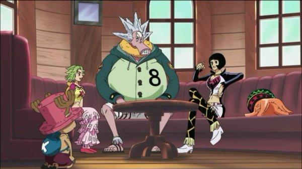 Shakuyaku (ou Shakky) + Monkey D. Luffy, Chopper, Brook, Octo, Keimi & Pappug - Arc Archipel Sabaody