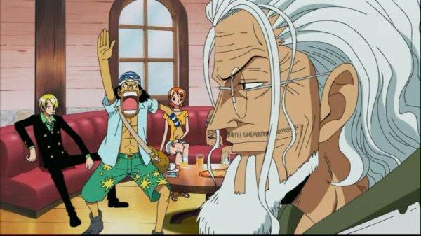 Silvers Rayleigh & Shakuyaku (ou Shakky) + Monkey D. Luffy, Nami, Usopp, Sanji, Nico Robin & Brook - Arc Archipel Sabaody