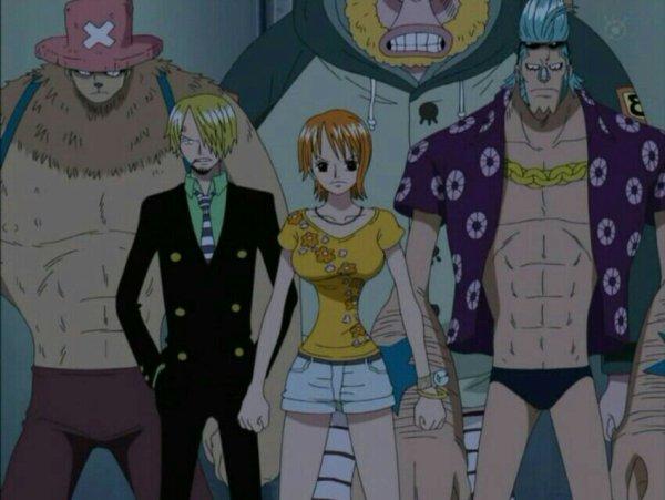 Monkey D. Luffy, Roronoa Zoro, Nami, Sanji, Chopper & Franky - Arc Archipel Sabaody