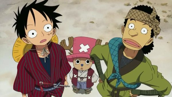 Monkey D. Luffy, Nami, Usopp, Sanji, Chopper & Mao - Episodes fillers 406 & 407, Le retour du Boss Luffy
