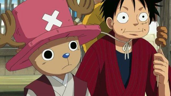 Monkey D. Luffy, Nami, Usopp, Sanji, Chopper, Franky, Brook & Mao - Episodes fillers 406 & 407, Le retour du Boss Luffy