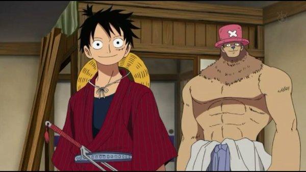 Equipage du Chapeau de Paille (hormis Nico Robin) & Mao - Episodes fillers 406 & 407, Le retour du Boss Luffy