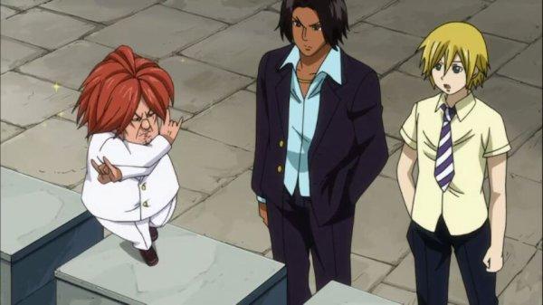 Blue Pegasus (Ichiya Vandalay Kotobuki, Hibiki Laytis, Ren Akatsuki, Eve Thylm & Nichiya) - Arc Grand Tournoi des jeux inter-magiques