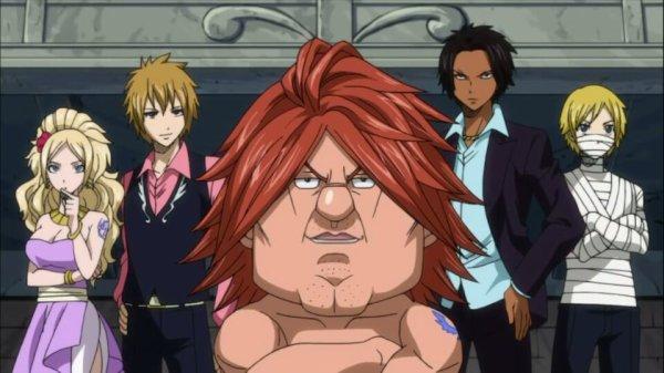 Blue Pegasus (Ichiya Vandalay Kotobuki, Hibiki Laytis, Ren Akatsuki, Eve Thylm, Jenny Realight & Nichiya) - Arc Grand Tournoi des jeux inter-magiques