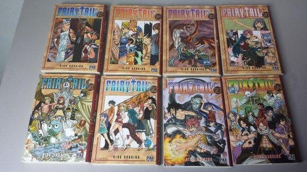 Derniers achats pour ma collection Fairy Tail, tomes 1 à 34