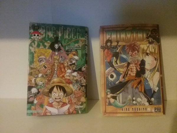 Dernier tome de One Piece (81) & Fairy Tail (55) - Collection