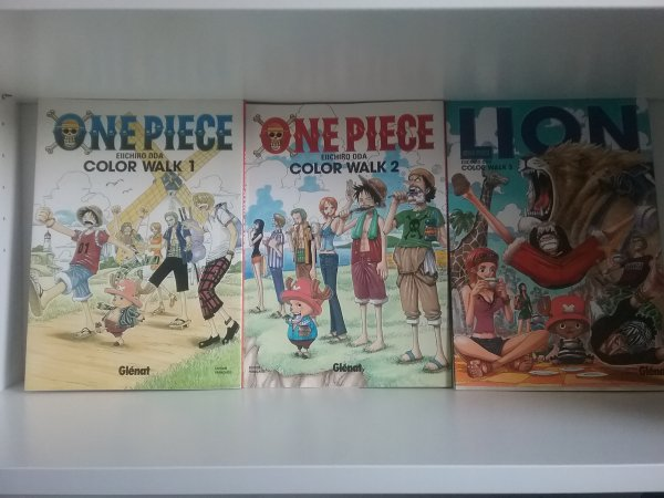 Artbooks 1; 2 & 3 de One Piece (+ une carte postale) - Colllection