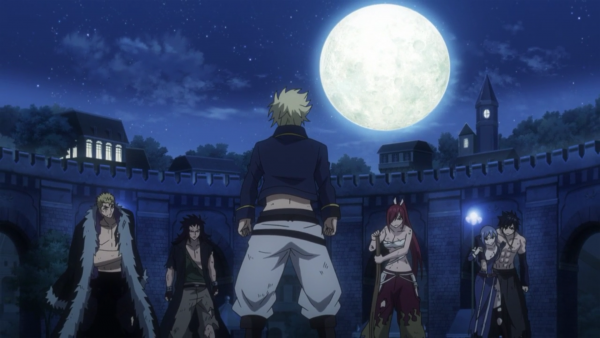 Sting Eucliffe vs Luxus Draer, Gajeel Redfox, Erza Scarlet, Jubia Lokser & Grey Fullbuster - Arc Eclipse