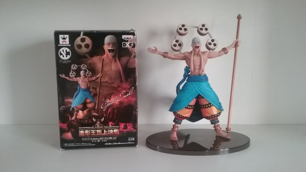 Monkey D. Luffy, Dracule Mihawk, Ener, Jango, Brook & Monkey D. Luffy (Nightmare Luffy) - Sculture Art