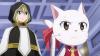 Lucy Heartfilia + Carla, Lucy Heartfilia, Happy & Natsu Dragnir - Arc Eclipse