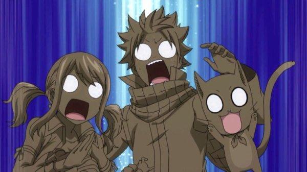 Natsu Dragnir, Lucy Heartfilia & Happy - Arc Eclipse