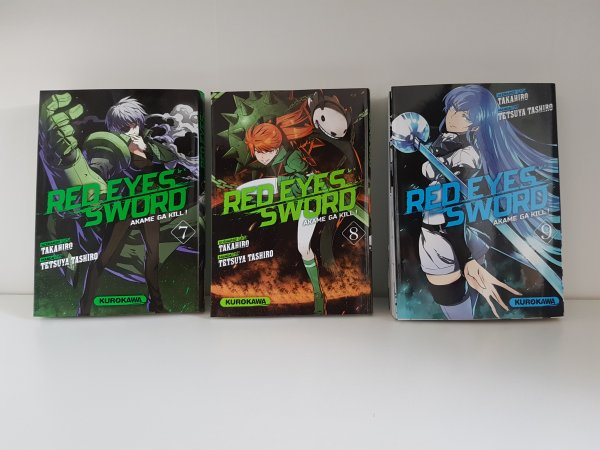 Tomes 7 à 12 de Akame ga Kill (ou Red Sword Eyes) + tome 4 de son spin-off