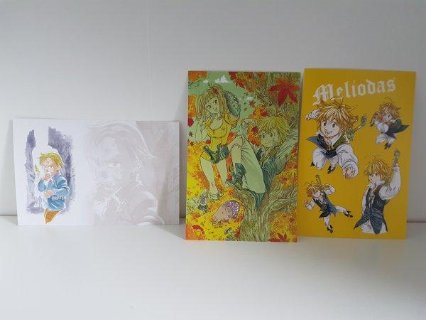 Cartes Postales offertes avec l'édition limité du tome 21 de Nanatsu no Taizai - Collection