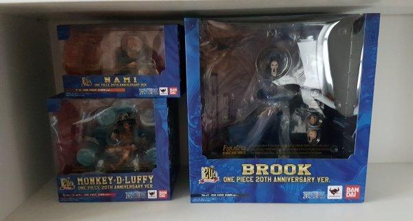 Luffy, Nami & Brook - Figuarts Zero, 20th anniversary
