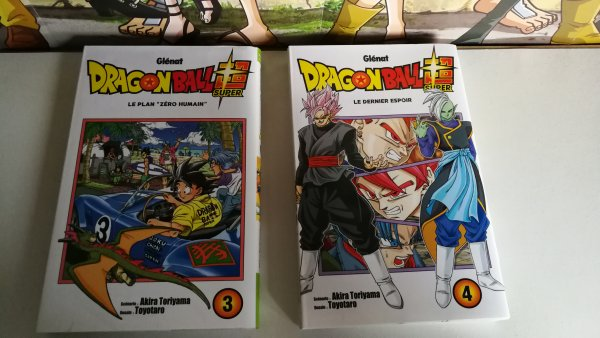 Tomes Black Clover (8 & 9), Boruto (4), Akame ga Kill : Zero (7) et Dragon Ball Super (3 & 4)