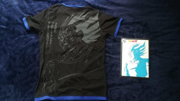 T-shirt Iki by Tsume de Vegeta (Majin), Son Goku (Kaioken) et de Broly (vs Son Goku)