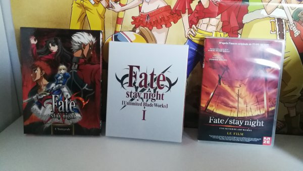DVD Fate Stay Night + Fate Stay Night Unlimited Blade Works, Dragon Ball Z & Sword Art Online