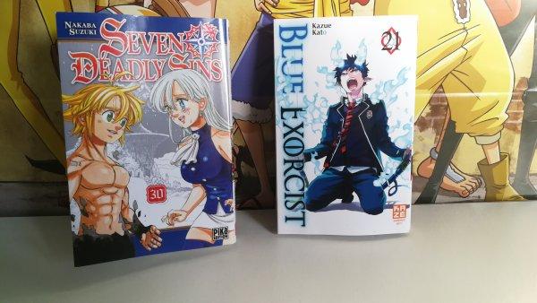 DVD One Piece + Tomes Nanatsu no Taizai, Ao no Exorcist & Black Clover