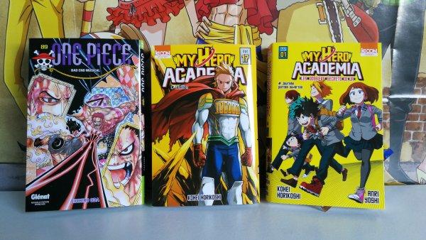 One Piece tome 89, My Hero Academia tome 17 + roman